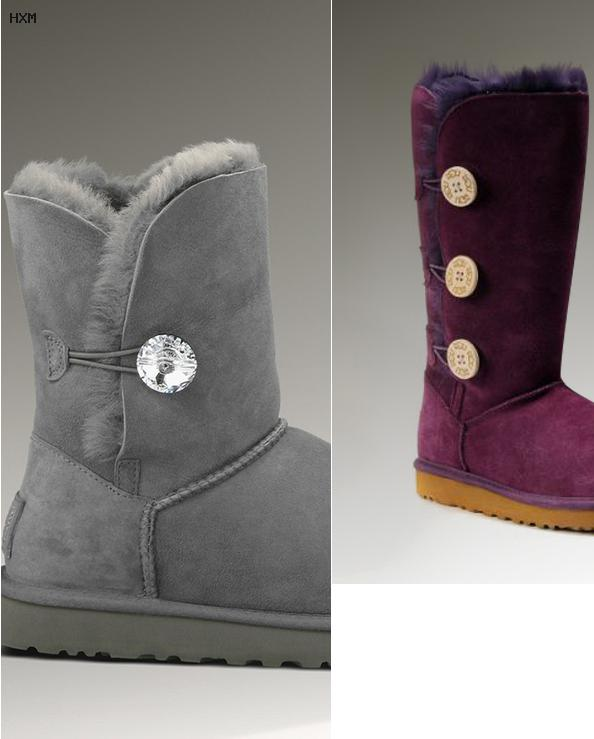 ugg boots bailey button damen grau